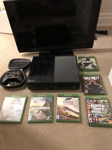 Xbox one 500gb with tv and Xbox elite controller