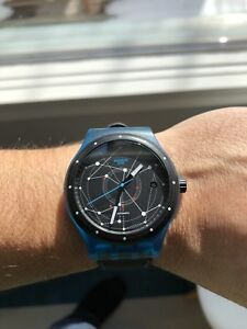 Swatch Sistem 51 Blue Automatic Watch Outstanding Condition