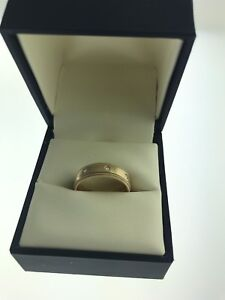 Bague or jaune 14k / ring 14k yellow gold with 0.08ct diamonds