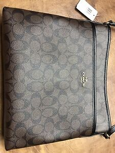 Coach Signature File Crossbody / Messenger Bag
