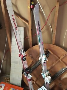 His and hers head radial vintage skis great condition!