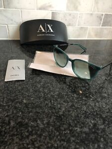 Green Armani exchange sunglasses with case