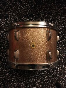 """1962 LUDWIG CHAMPAGNE SPARKLE 12"""" TOM"""