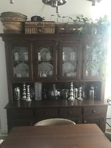 Antique Canadian pine hutch / buffet / sideboard