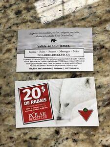 Carte cadeau spa polar bear
