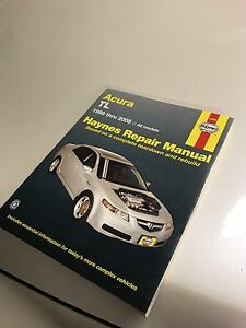 Haynes repair manual for Acura TL