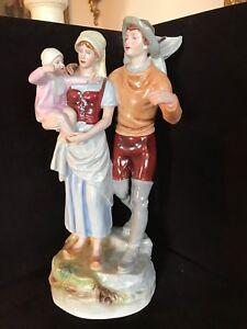 Large Royal Dux porcelain figurines