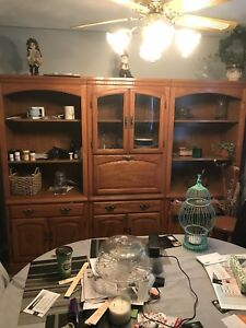 3 piece cabinet  perfect condition 31 1/4 in wide 76in hight