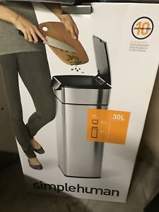 Simple human 30L garbage can brand new