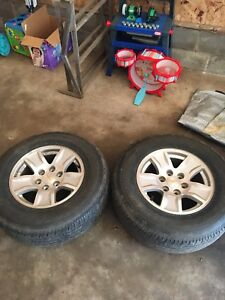Rims and tires   Asking $300.00 OBO