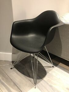 Eames Style Black Plastic Chair