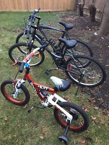 His and Her bike and toddler bike