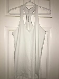 Lululemon crb tank white size 12 $35 like new!