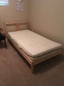 Bed Frame and Memory Foam Mattress