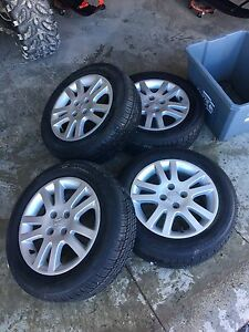 Honda rims with new tires