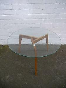 New Round Tempered Glass Scandi Style Timber Coffee Tables Melbourne CBD Melbourne City Preview