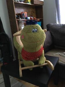 Reduced! Rocking chair plush frog prince