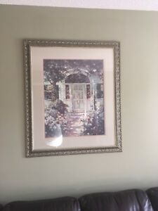 Large frame with print
