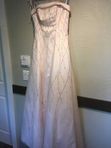 Grad dress, baby pink size 8