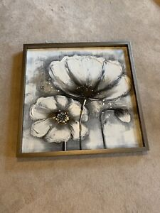 Beautiful grey white and black painting