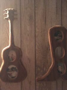 Willingdon wooden cowboy boot and guitar frames