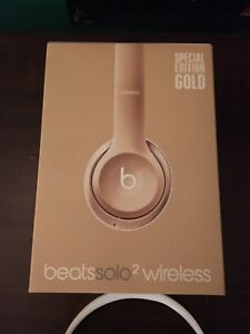 Gold special edition beats solo 2 wireless headphones