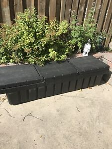 Truck bed tool storage box all weather