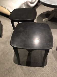 Two Black side/bed tables