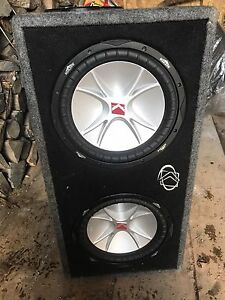 Dual 12 inch Kicker CRV Comp Subwoofers with Amp