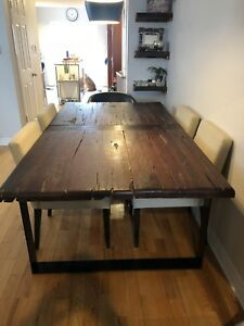 Railway Tie Dining Table and Bench