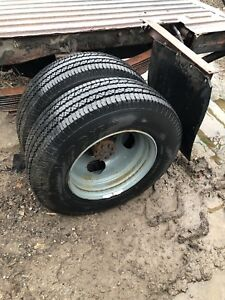 8.75 R16.5 tires and rims x4 total with or without axle
