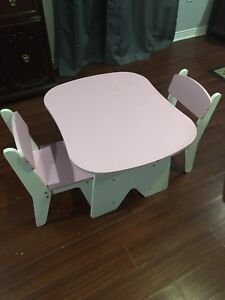 Kids wooden table and chairs
