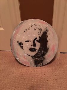 Marilyn Monroe hand painted record