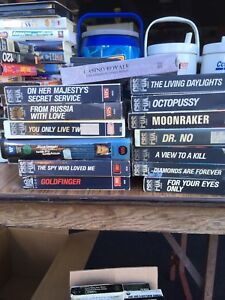 James Bond  VHS movies