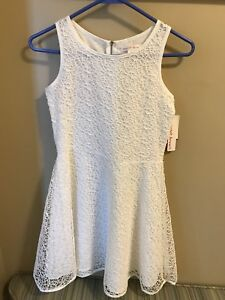 White dress brand new tags attached size 14