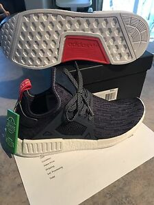 W 10.5 Adidas NMD XR1 Glitch Unity Blue women's shoes
