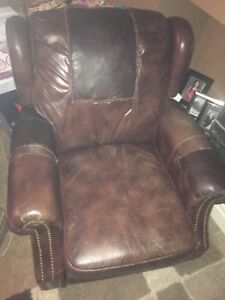 Older leather recliner