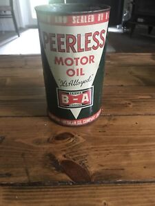 Rare Peerless B-A Oil Can (Canadian)