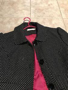 XXL Black coat with white polka dots