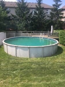 24 FT Round Above Ground Pool