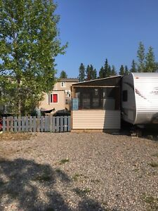 Camper for sale on seasonal lot at Candle lake.