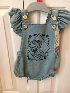 Brand New Rock Your Baby Kitty Ruffle Romper Size 1 Beechboro Swan Area Preview