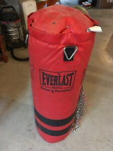Everast punching bag, no gloves
