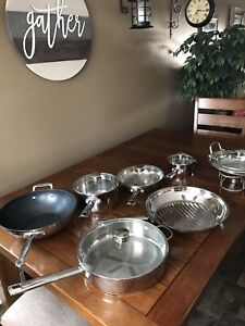 12 Piece WolfGang Puck Stainless Steel Set, excellent condition!