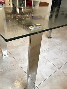 Oz Design Glass Dining Table with chrome legs Kyeemagh Rockdale Area Preview