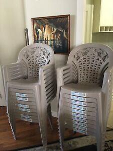 22 Stackable Chairs and One Adjustable Banquet Table