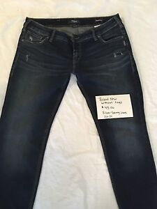 Woman's Silver Skinny Jeans