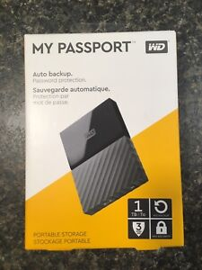 WD passport external harddrive 1TB
