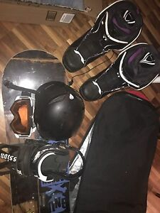 Snowboard Set. Used once. Leaving country.