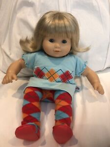 American girl bitty twin girl with 3 doll and child outfits